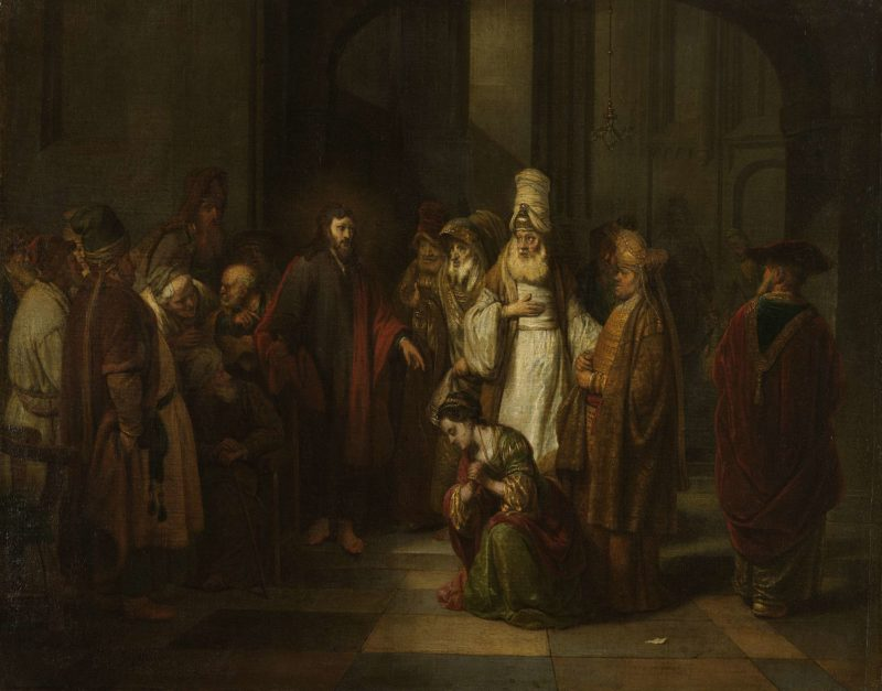 Christ and the adulteress. 1650 - 1674 | Gerbrand van den Eeckhout | oil painting