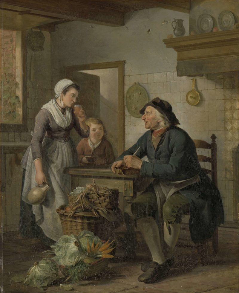 Morning Visit. 1796 | Adriaan de Lelie | oil painting