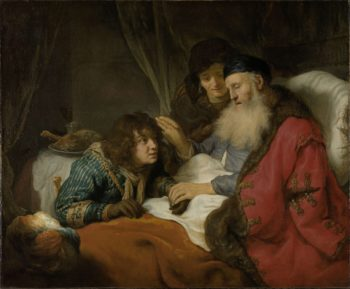 Isaac Blessing Jacob. ca. 1638 | Govert Flinck | oil painting