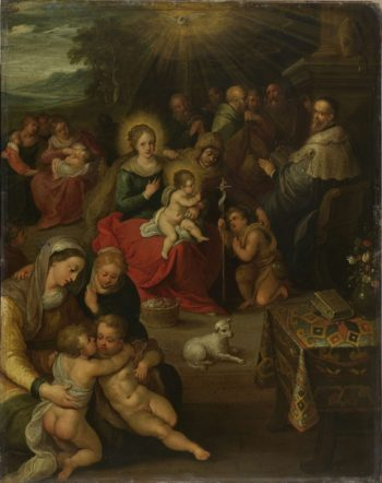 Allegory of the Christ Child as the Lamb of God. 1616 | Frans Francken (II) | oil painting