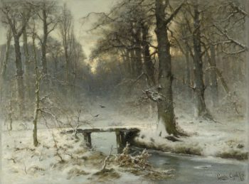 A January evening in the Hague forest. 1875 | Louis Apol | oil painting