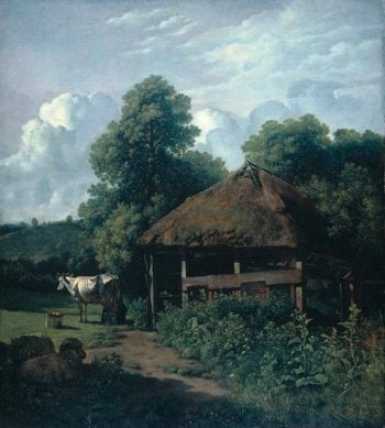 A farm building in Gelderland. 1805 - 1810 | Wouter Johannes van Troostwijk | oil painting