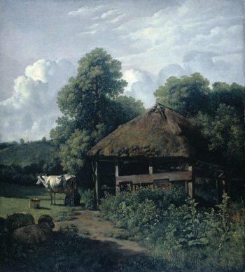 A farm building in Gelderland. 1805 - 1810 | Wouter Johannes van Troostwijk | oil painting