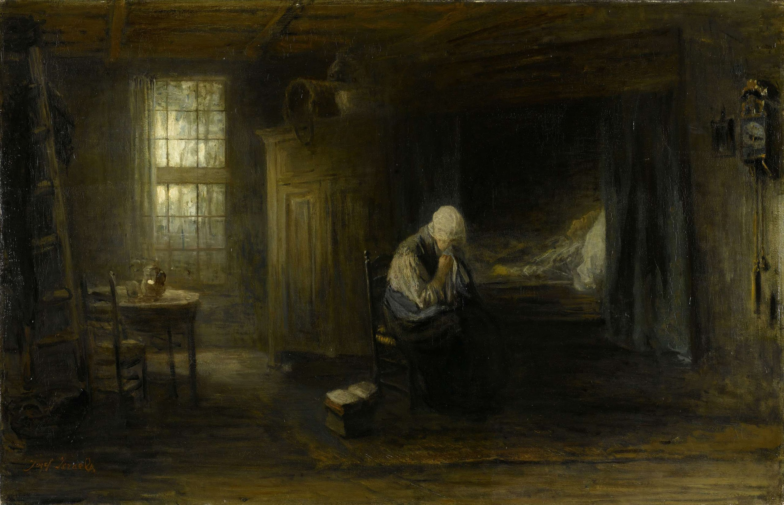 Alone in the world 1878 jozef israls oil painting