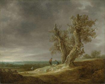 Landscape with Two Oaks. 1641 | Jan van Goyen | oil painting