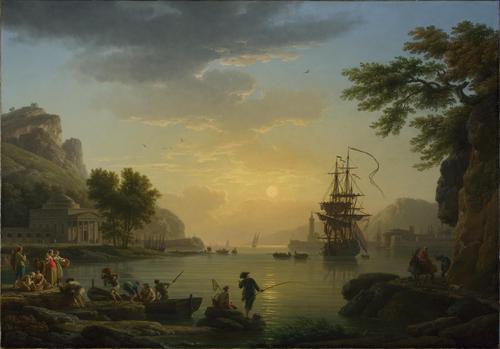 A Landscape at Sunset | Claude-Joseph Vernet | oil painting
