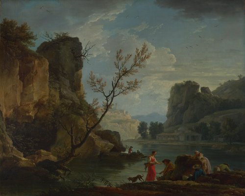 A River with Fishermen | Claude-Joseph Vernet | oil painting