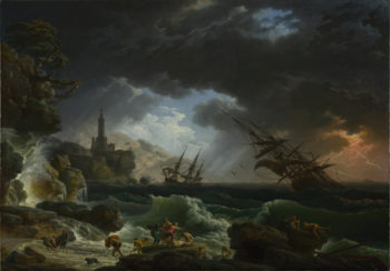 A Shipwreck in Stormy Seas | Claude-Joseph Vernet | oil painting