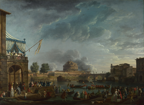 A Sporting Contest on the Tiber at Rome | Claude-Joseph Vernet | oil painting