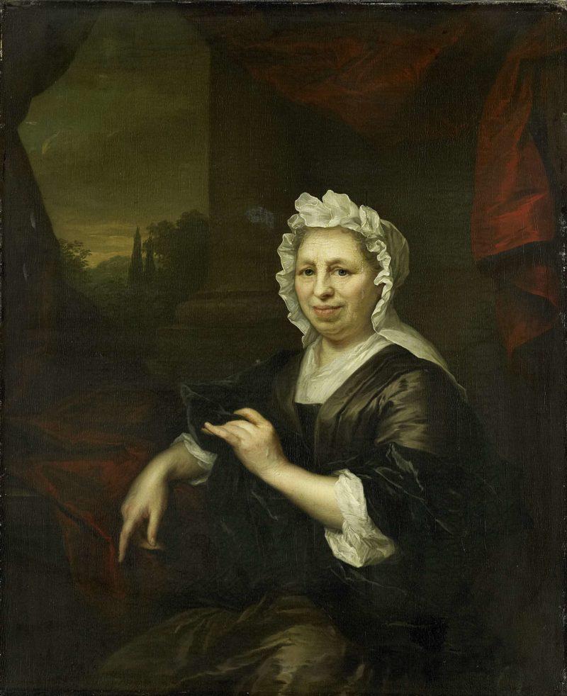 Brechje Hooft (1640-1721). Widow of Harmen van de Poll.. ca. 1700 - ca. 1729 | Arnold Boonen | oil painting