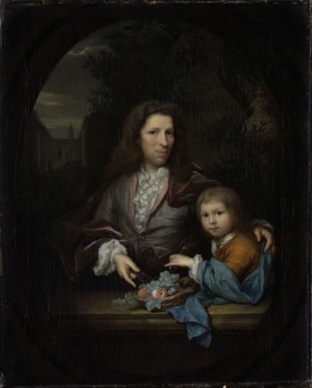 Jan van de Poll (1668-1745) and his son Harmen Hendrick (1697-1772).. 1700 - 1729 | Arnold Boonen | oil painting