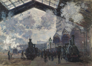 The Gare St-Lazare | Claude-Oscar Monet | oil painting