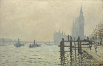 The Thames below Westminster | Claude-Oscar Monet | oil painting