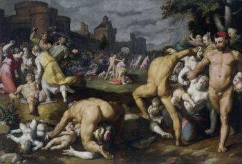 The Massacre of the Innocents. 1590 | Cornelis Cornelisz. van Haarlem | oil painting