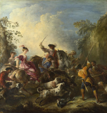 The Boar Hunt | Joseph Parrocel | oil painting