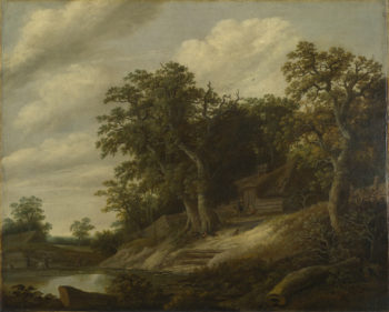 A Cottage among Trees on the Bank of a Stream | Cornelis Decker | oil painting