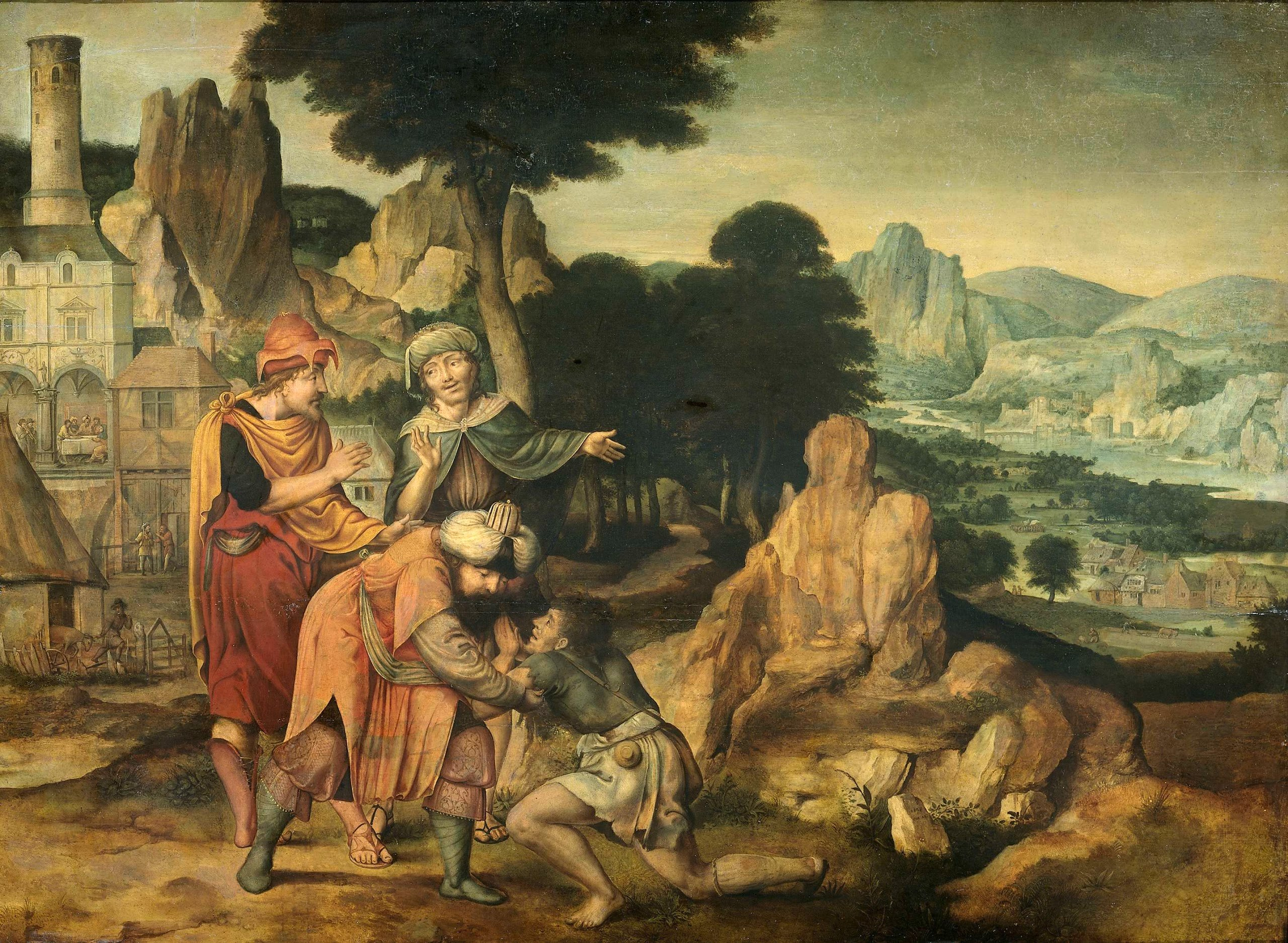 The parable of the prodigal son. 1538 | Cornelis Massijs | oil painting