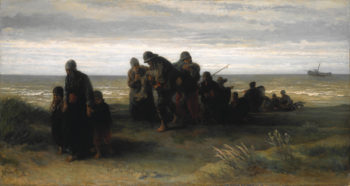 Fishermen carrying a Drowned Man | Jozef Israels | oil painting