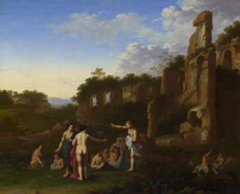 Women bathing in a Landscape | Cornelis van Poelenburgh | oil painting
