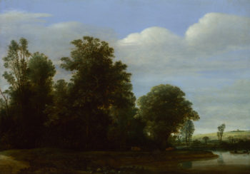 A Landscape with a River by a Wood | Cornelis Vroom | oil painting