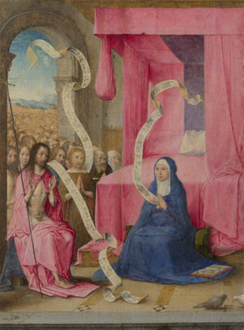 Christ appearing to the Virgin | Juan de Flandes | oil painting