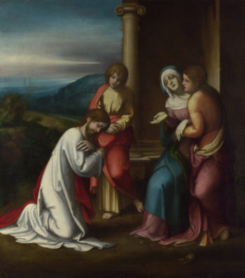 Christ taking Leave of his Mother | Correggio | oil painting