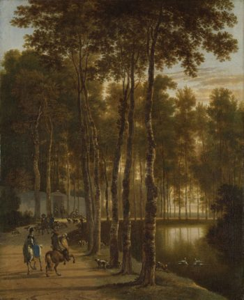 The Berkenlaan. 1660 - 1685 | Jan Hackaert | oil painting