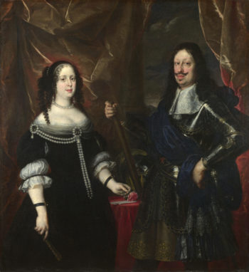 The Grand Duke Ferdinand II of Tuscany and his Wife | Justus Sustermans | oil painting