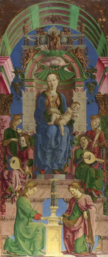 The Virgin and Child Enthroned | Cosimo Tura | oil painting
