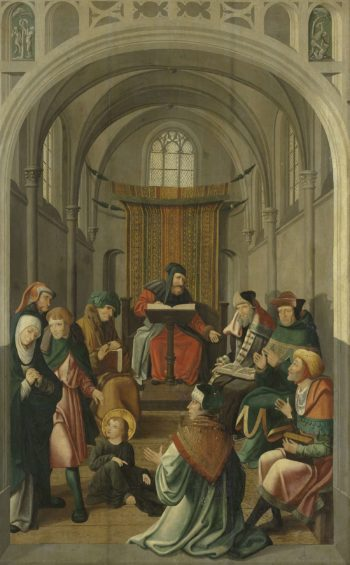 Altarpiece with Jesus teaching in the temple and the appearance to Mary. ca. 1520 - ca. 1535 | Meester van Alkmaar | oil painting