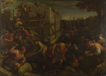 The Tower of Babel | Leandro Bassano | oil painting