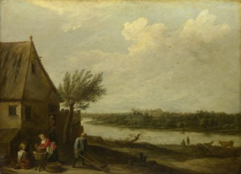 A Cottage by a River with a Distant View of a Castle | David Teniers the Younger | oil painting