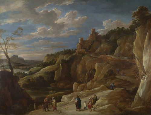 A Gipsy Fortune Teller in a Hilly Landscape | David Teniers the Younger | oil painting