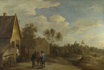 A View of a Village | David Teniers the Younger | oil painting