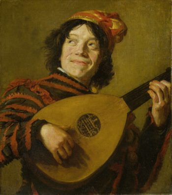 The lute player. ca. 1623 - 1624 | Frans Hals | oil painting