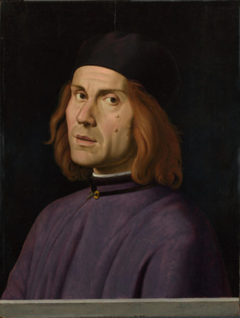 Portrait of Battista Fiera | Lorenzo Costa | oil painting