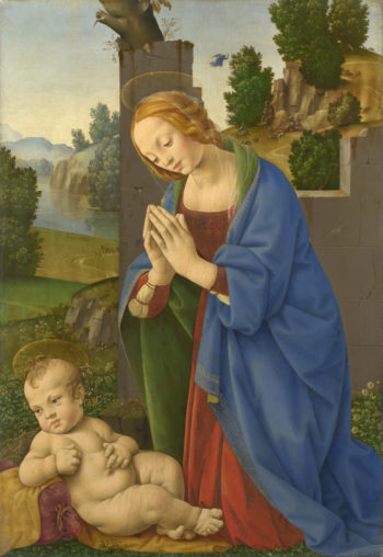 The Virgin adoring the Child | Lorenzo di Credi | oil painting