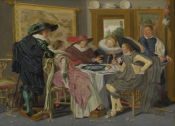 A Party at Table   Dirck Hals   oil painting