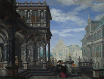 An Architectural Fantasy | Dirck van Delen | oil painting
