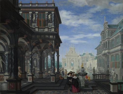 An Architectural Fantasy | Dirck van Delen | oil painting