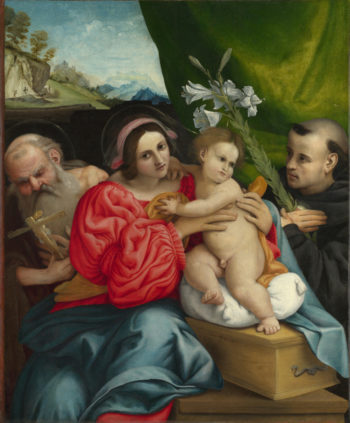 The Virgin and Child with Saints | Lorenzo Lotto | oil painting