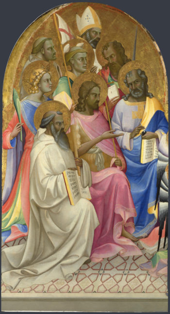 Adoring Saints | Lorenzo Monaco | oil painting