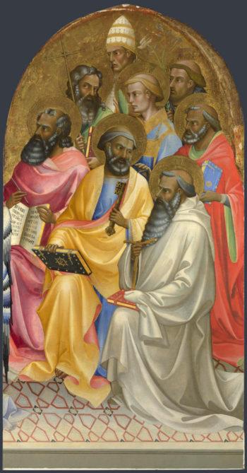 Adoring Saints | Lorenzo Monaco | oil painting