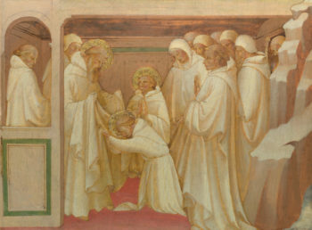 Saint Benedict admitting Saints into the Order | Lorenzo Monaco | oil painting