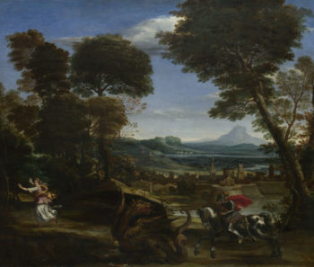 Saint George killing the Dragon | Domenichino | oil painting