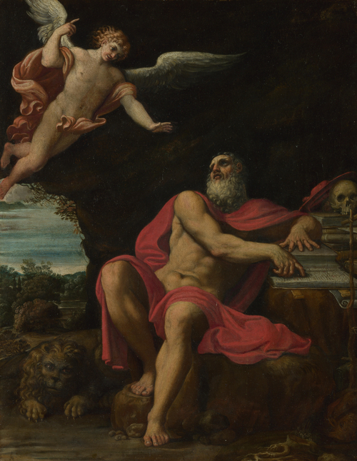The Vision of Saint Jerome | Domenichino | oil painting
