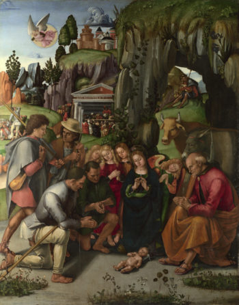The Adoration of the Shepherds | Luca Signorelli | oil painting