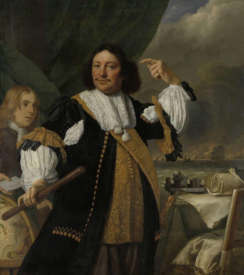 Aert van Nes (1626-93). Lieutenant-Admiral. 1668 | Bartholomeus van der Helst | oil painting