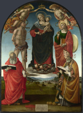 The Virgin and Child with Saints | Luca Signorelli | oil painting