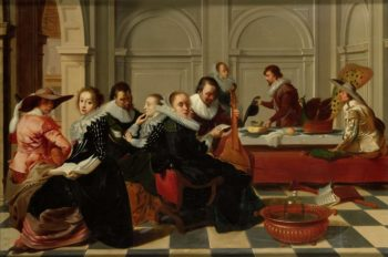 The music party. after 1700 | Willem Cornelisz. Duyster | oil painting